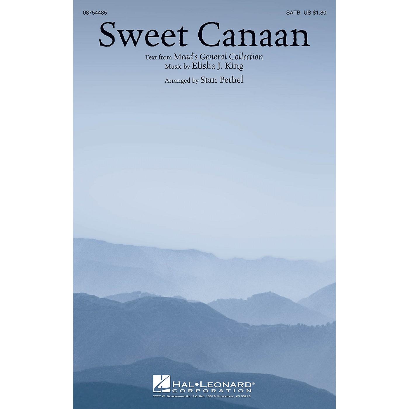 Hal Leonard Sweet Canaan SATB arranged by Stan Pethel thumbnail