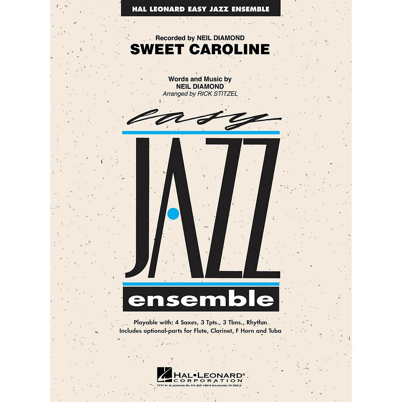 Hal Leonard Sweet Caroline Jazz Band Level 2 by Neil Diamond Arranged by Rick Stitzel thumbnail