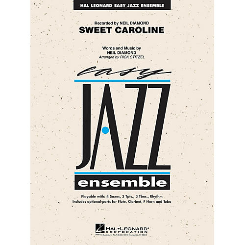 Hal Leonard Sweet Caroline Jazz Band Level 2 by Neil Diamond Arranged by Rick Stitzel thumbnail