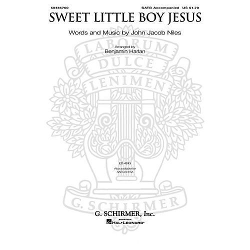 G. Schirmer Sweet Little Boy Jesus SATB arranged by Benjamin Harlan thumbnail