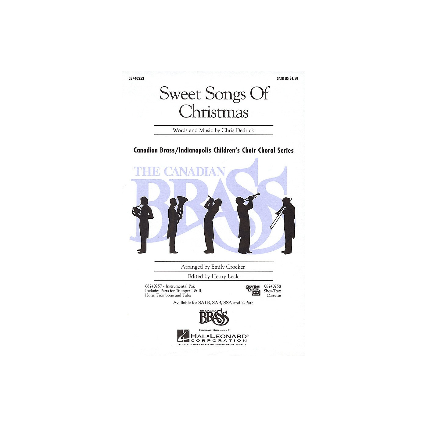 Hal Leonard Sweet Songs of Christmas SATB composed by Christopher Dedrick thumbnail