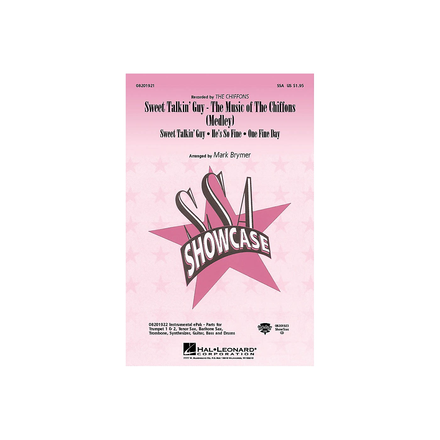 Hal Leonard Sweet Talkin' Guy - Music Of The Chiffons (Medley) ShowTrax CD by The Chiffons Arranged by Mark Brymer thumbnail