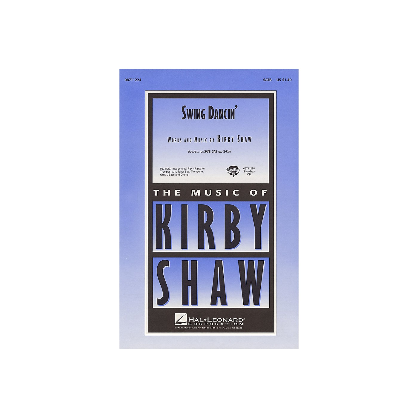 Hal Leonard Swing Dancin' ShowTrax CD Composed by Kirby Shaw thumbnail