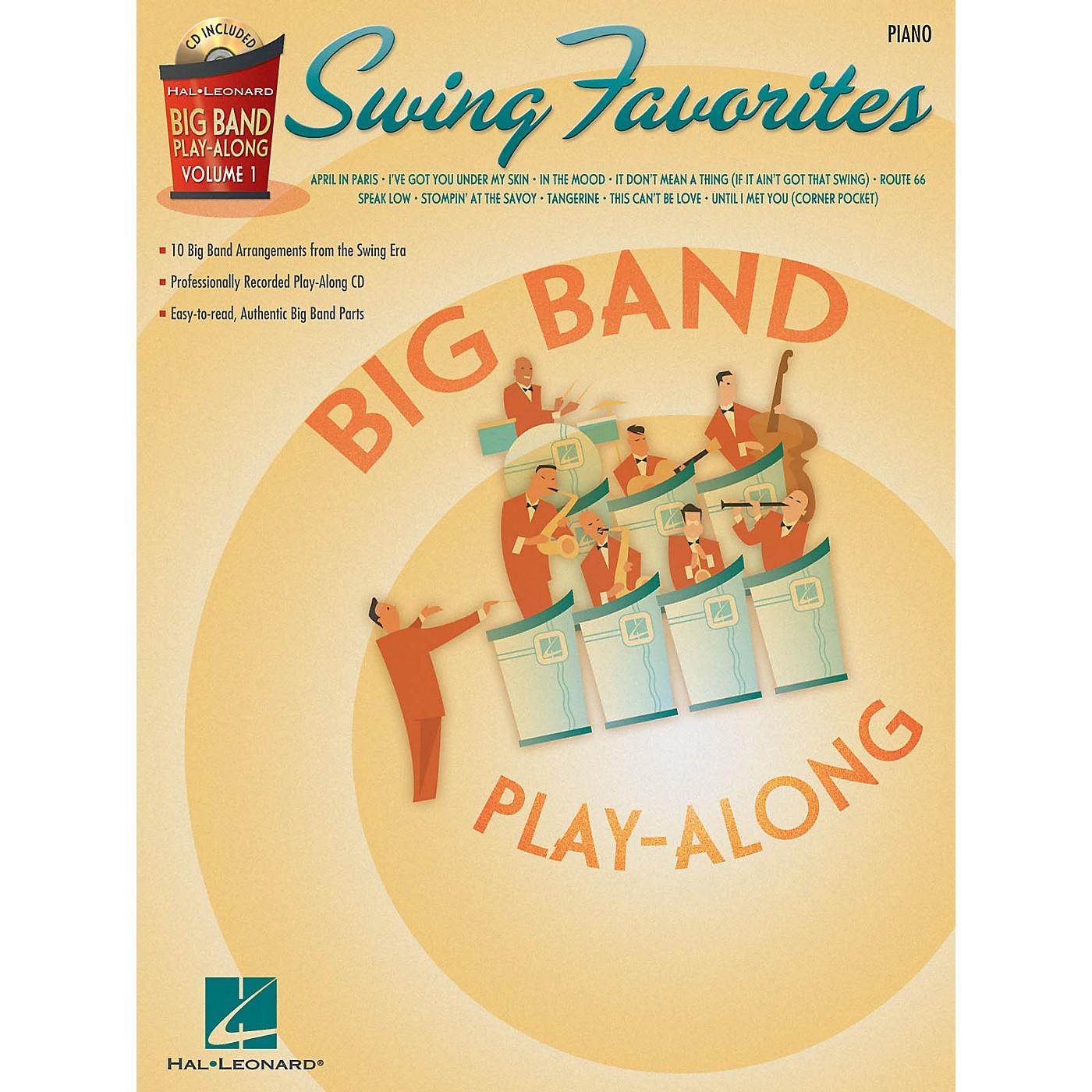 Hal Leonard Swing Favorites - Piano (Big Band Play-Along Volume 1) Big Band Play-Along Series Softcover with CD thumbnail