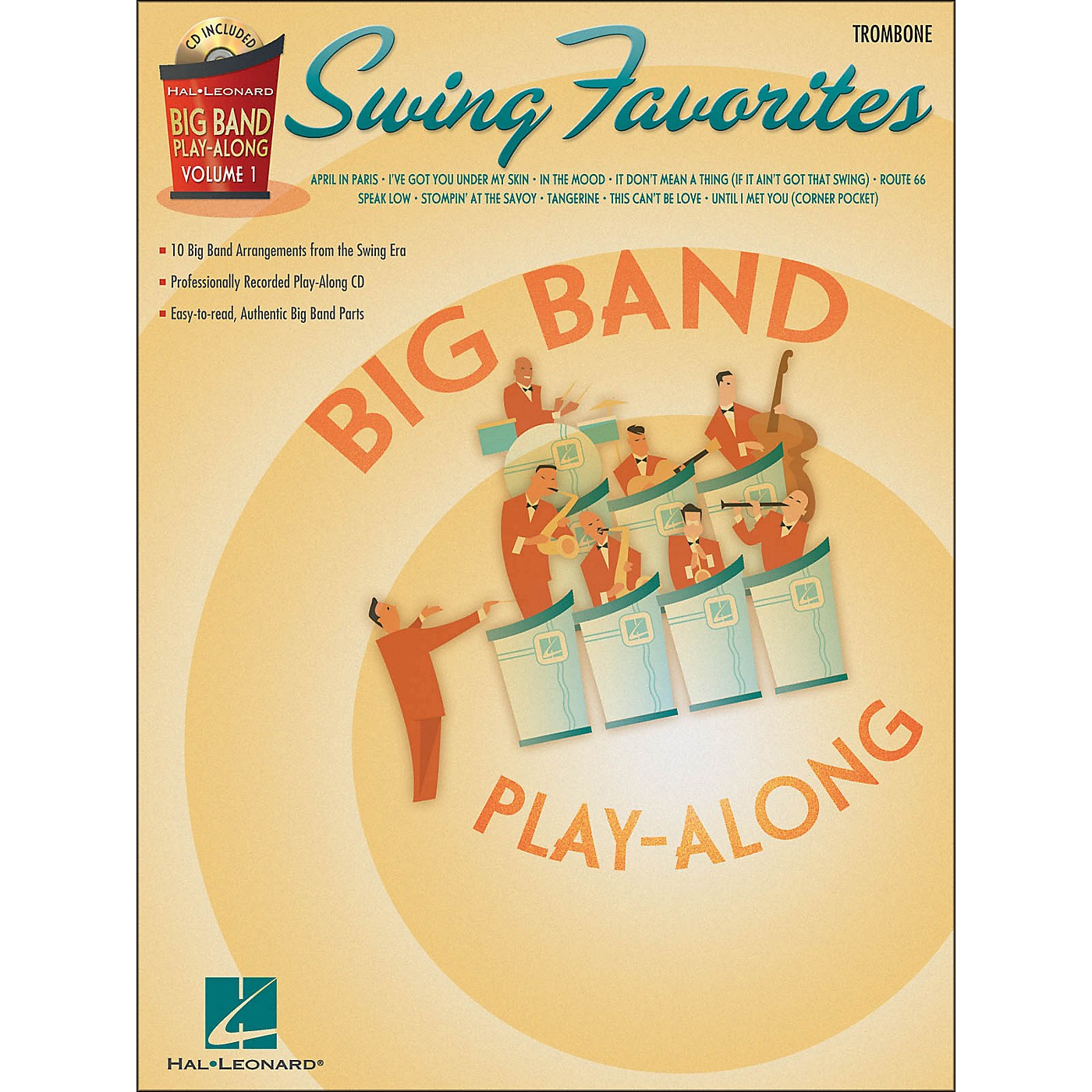Hal Leonard Swing Favorites Big Band Play-Along Vol. 1 Trombone Book/CD thumbnail