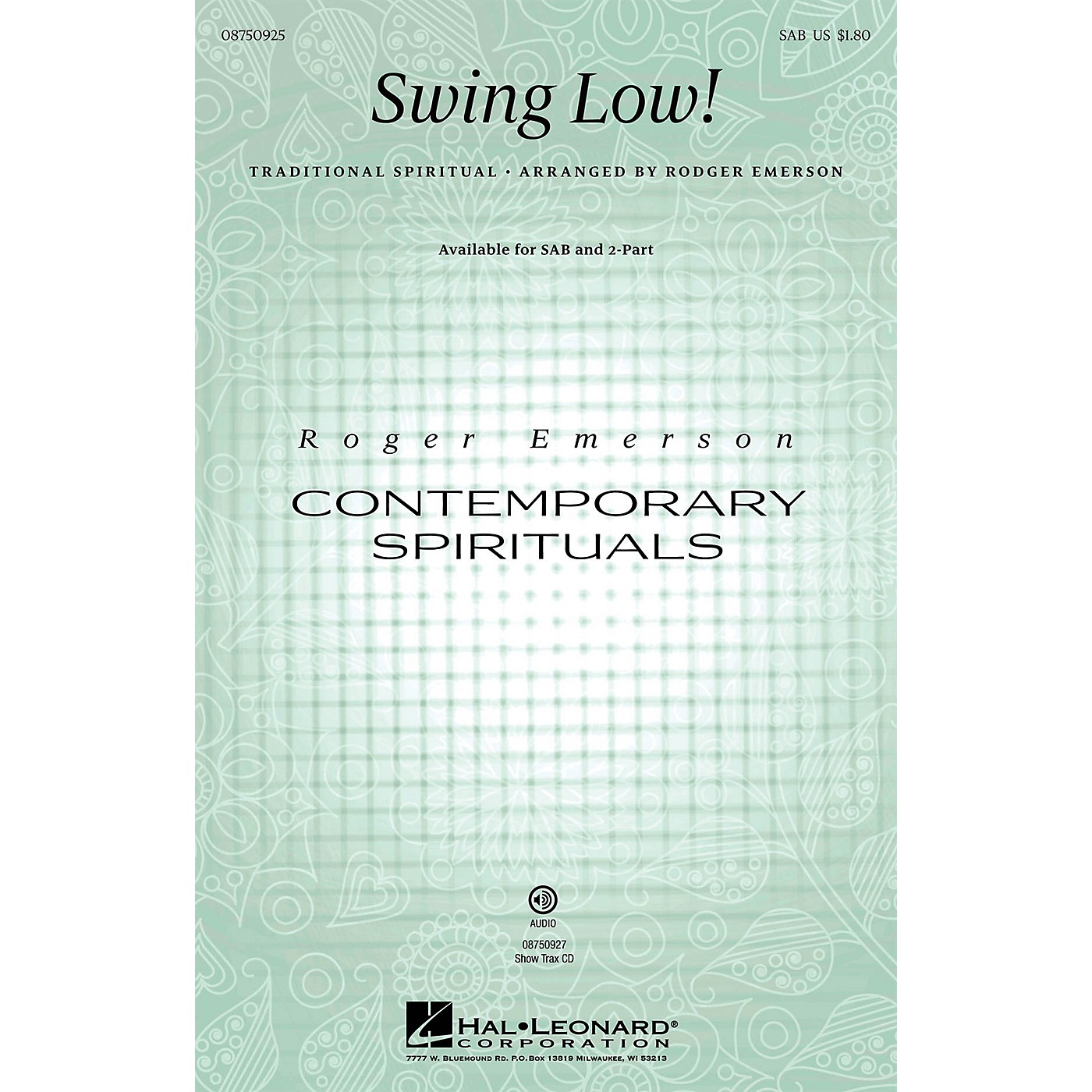 Hal Leonard Swing Low! ShowTrax CD Arranged by Roger Emerson thumbnail