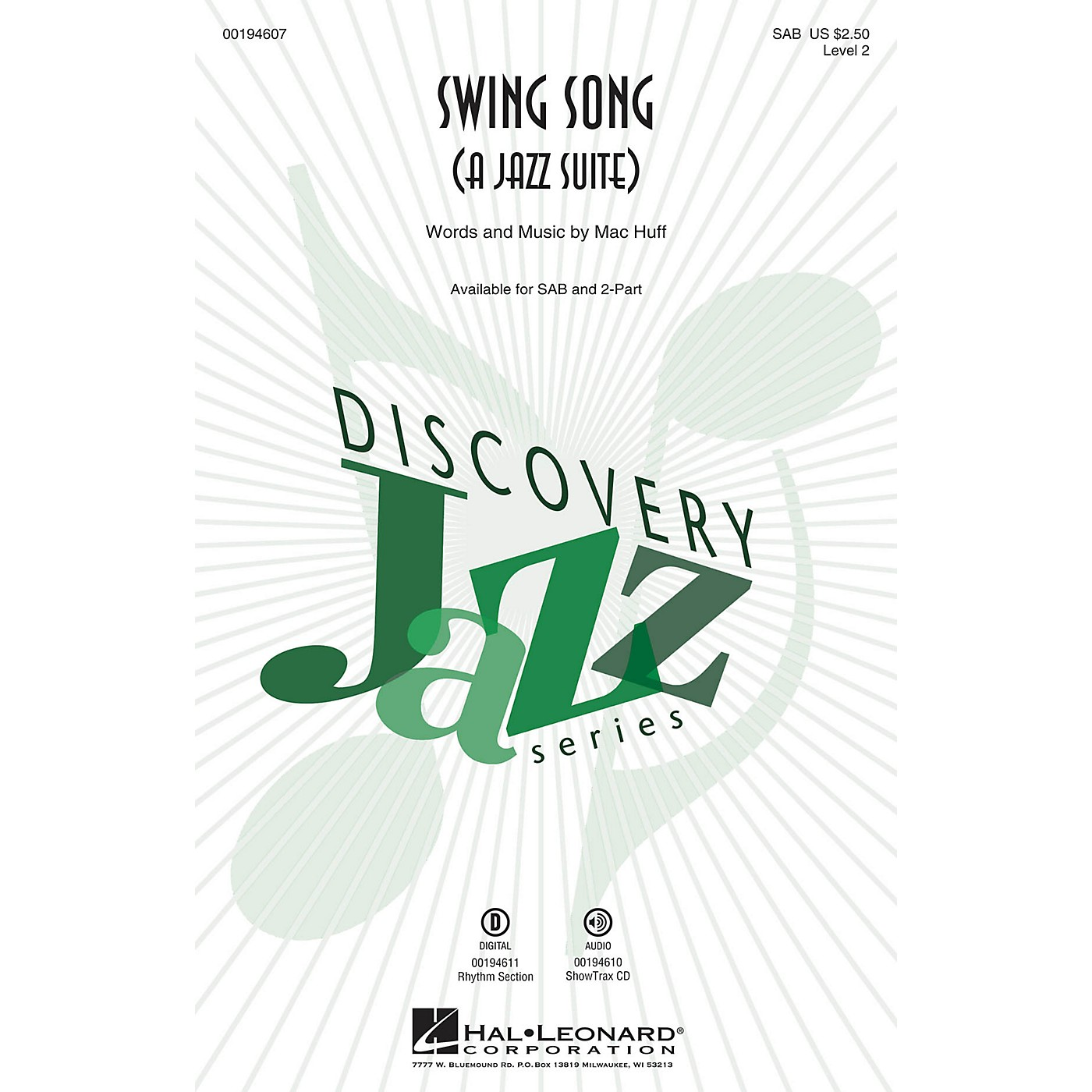Hal Leonard Swing Song (A Jazz Suite) (Discovery Level 2) ShowTrax CD Composed by Mac Huff thumbnail