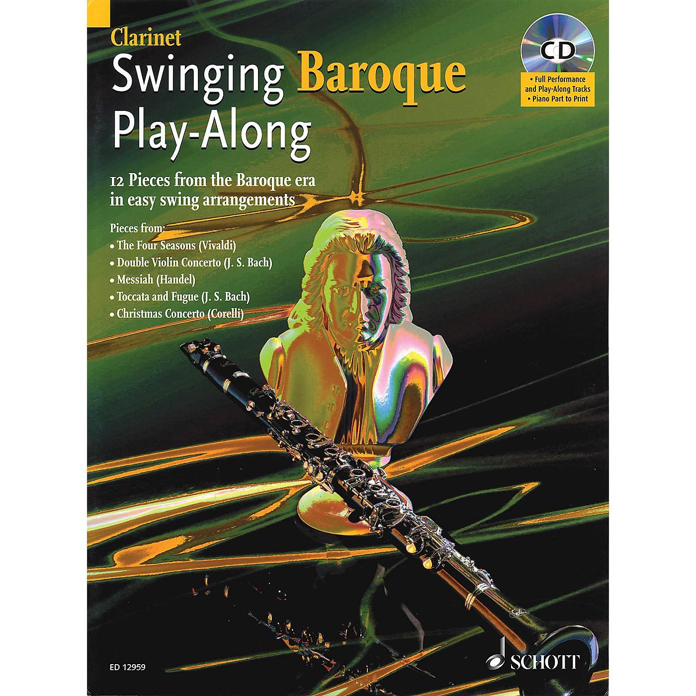 Schott Swinging Baroque Play-Along for Clarinet Misc Series BK/CD thumbnail