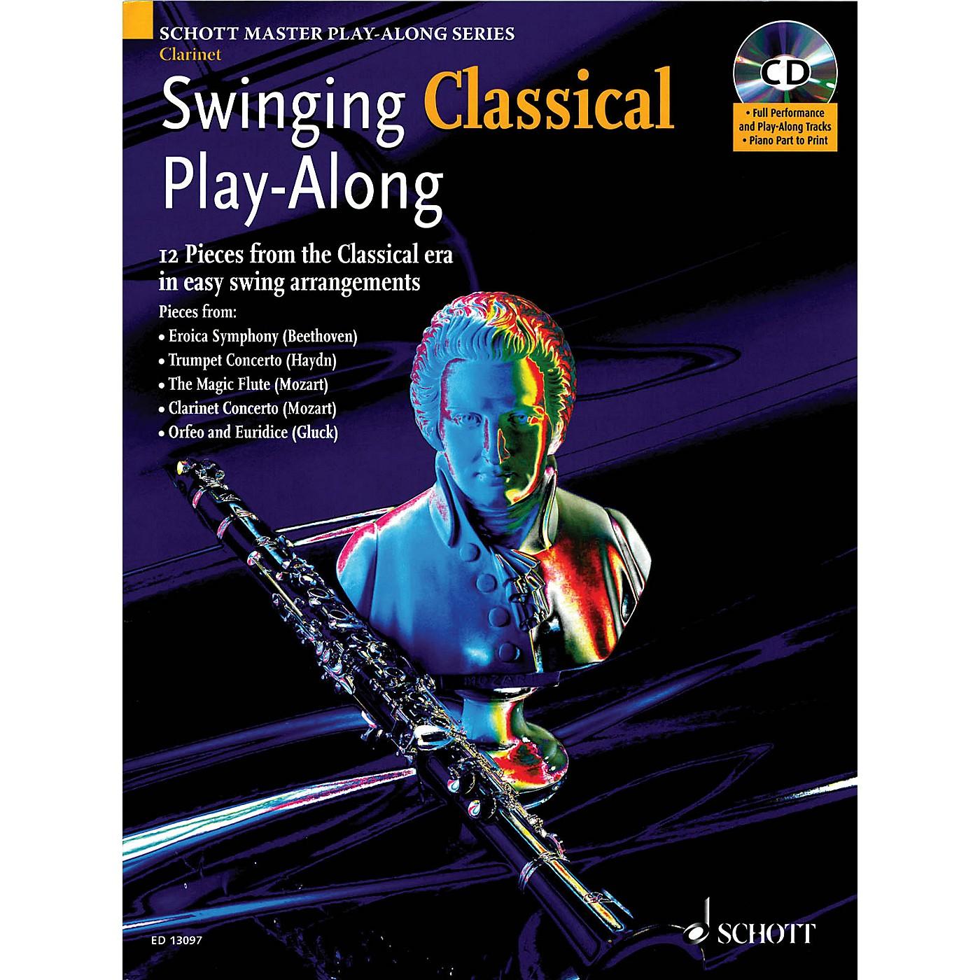 Schott Swinging Classical Play-Along Woodwind Solo Series BK/CD thumbnail