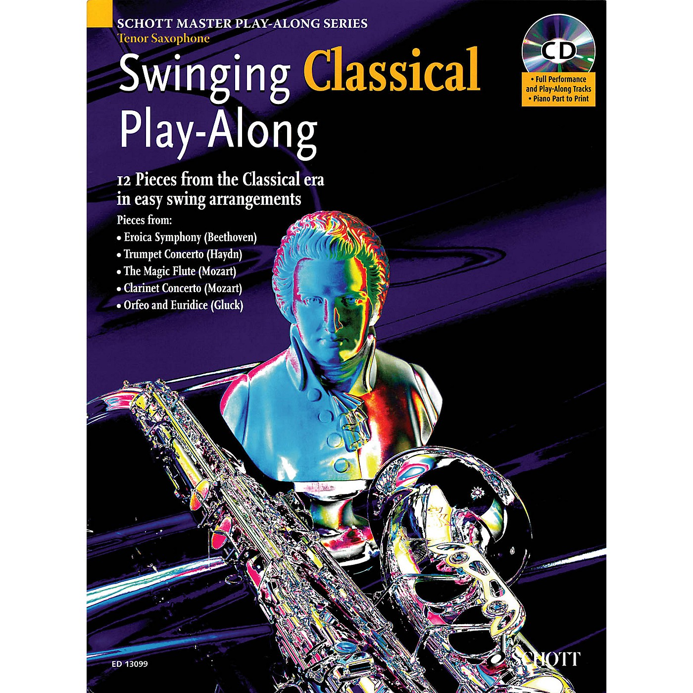 Schott Swinging Classical Play-Along Woodwind Solo Series Book with CD thumbnail