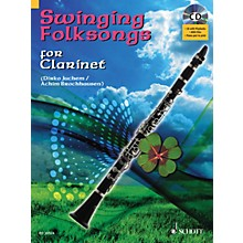 Hal Leonard Swinging Folksongs Play-along For Clarinet Bk/CD With Piano Parts To Print Woodwind Solo Series