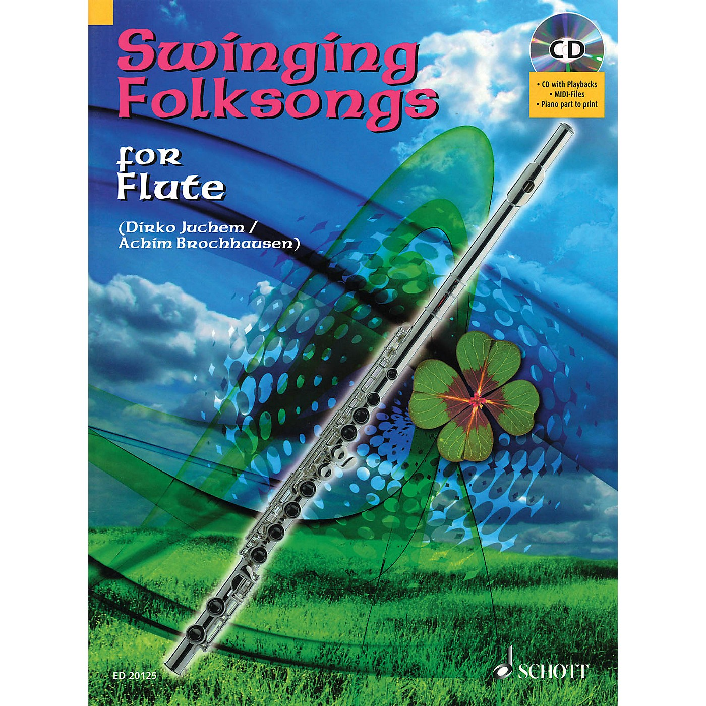 Hal Leonard Swinging Folksongs Play-along For Flute Bk/CD With Piano Parts To Print Woodwind Solo Series thumbnail