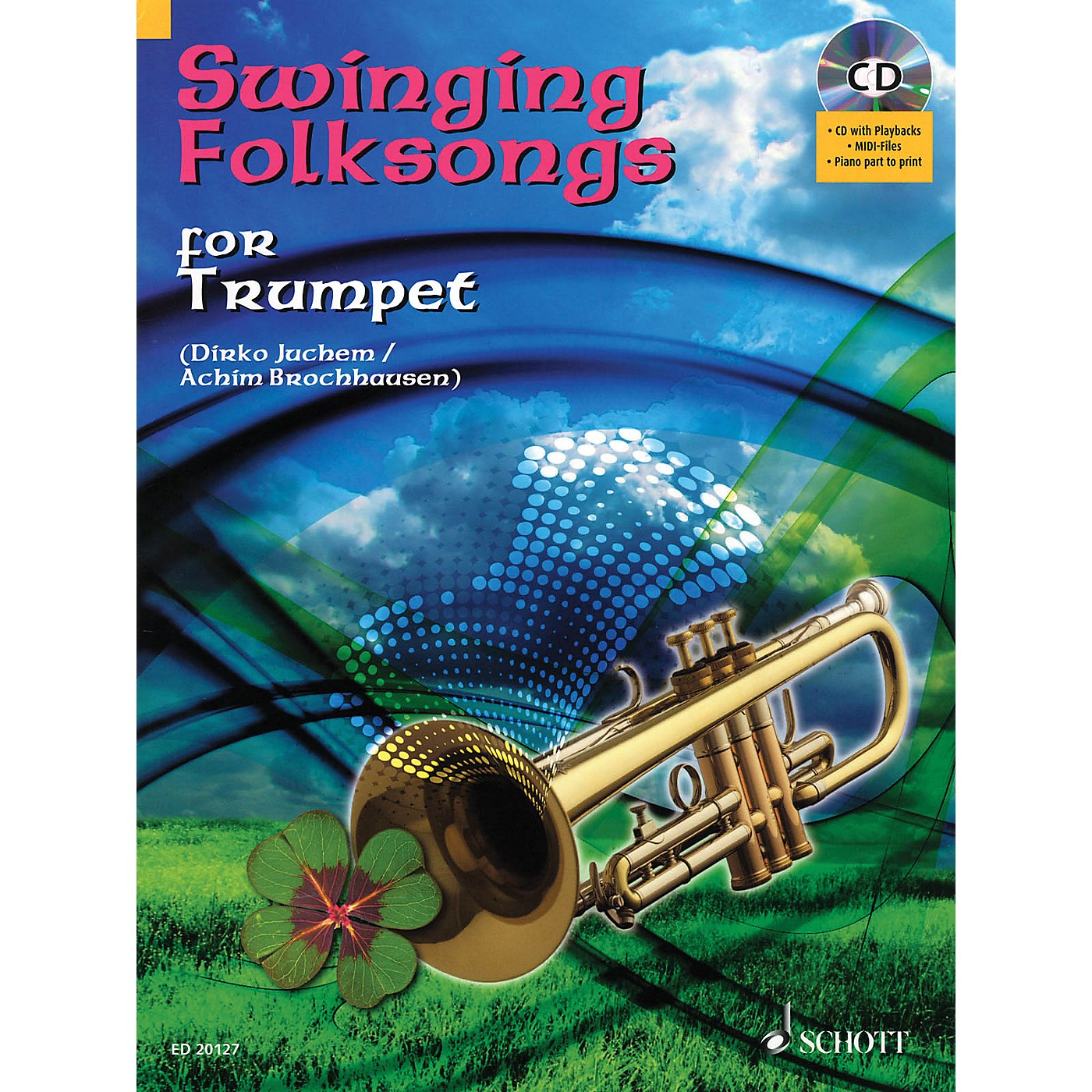 Hal Leonard Swinging Folksongs Play-along For Trumpet Bk/cd With Piano Parts To Print Brass Solo Series thumbnail