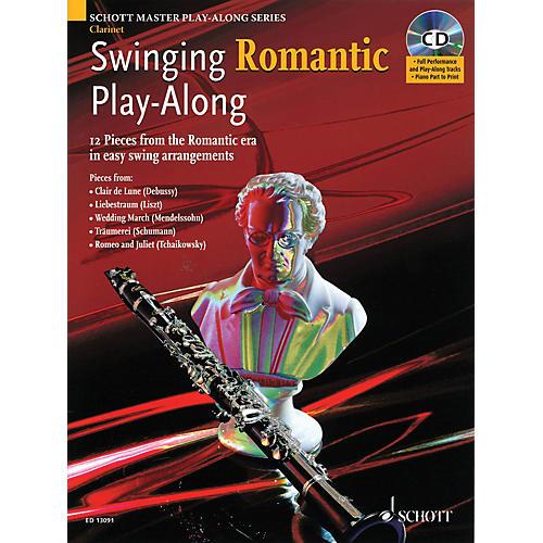 Schott Swinging Romantic Play-Along Instrumental Folio Series BK/CD thumbnail