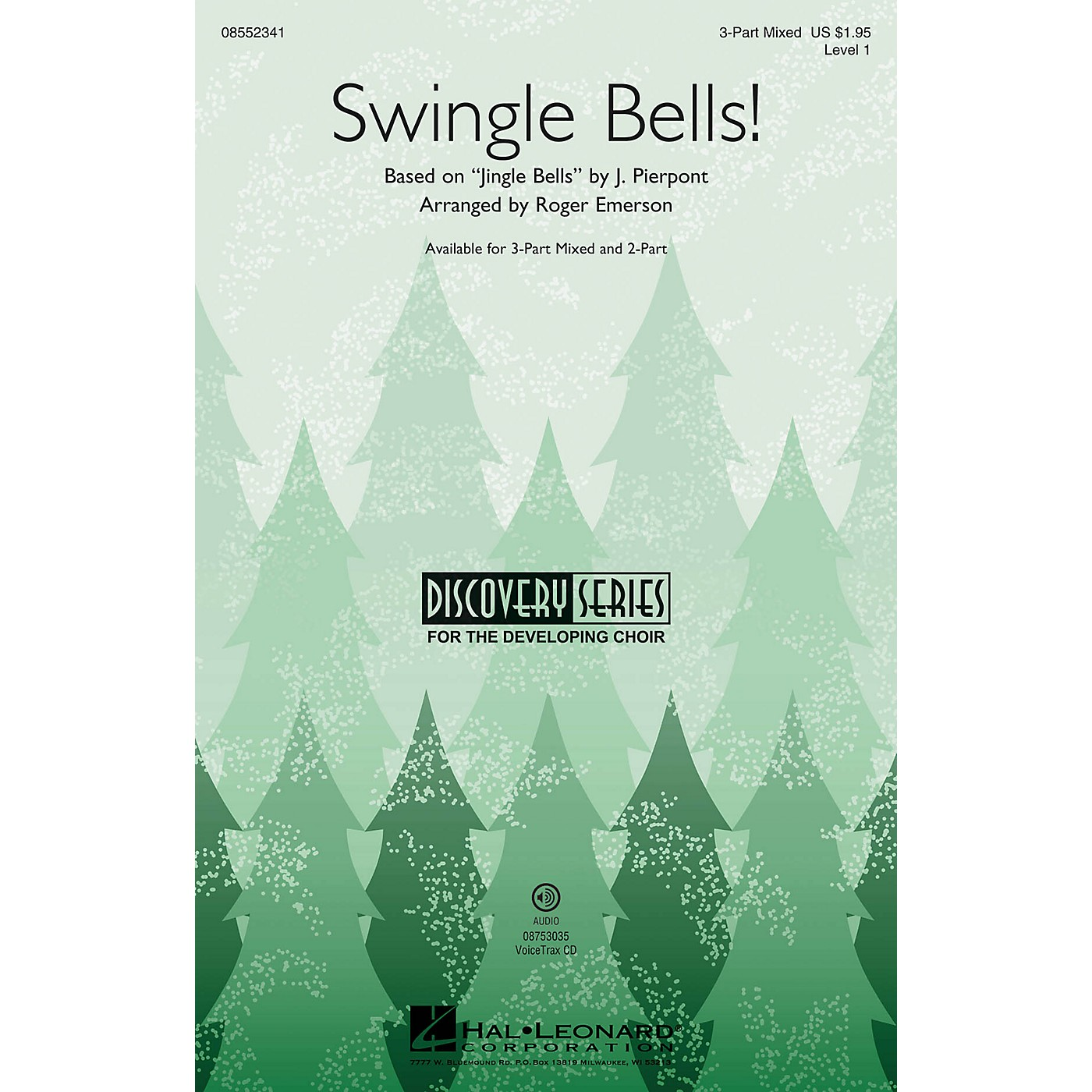 Hal Leonard Swingle Bells! (Discovery Level 1) 3-Part Mixed arranged by Roger Emerson thumbnail