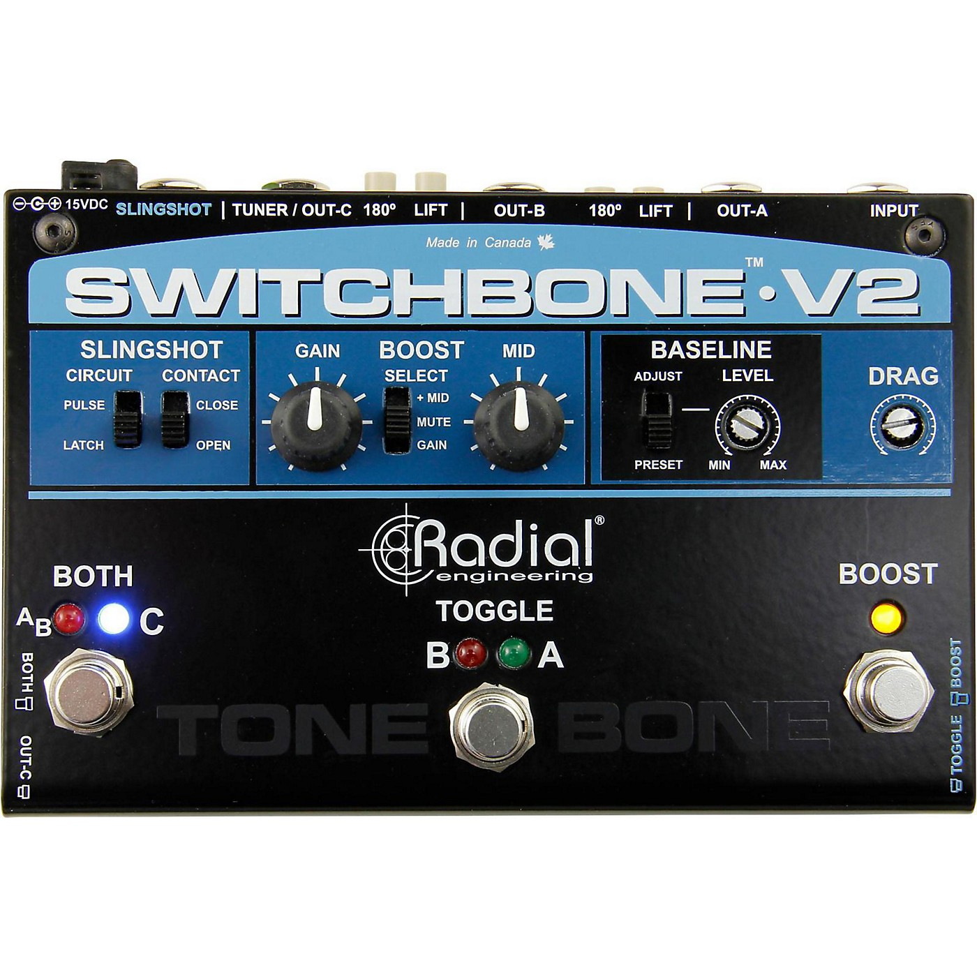 Radial Engineering Switchbone V2 ABY/C Amp Selector and Booster Pedal thumbnail