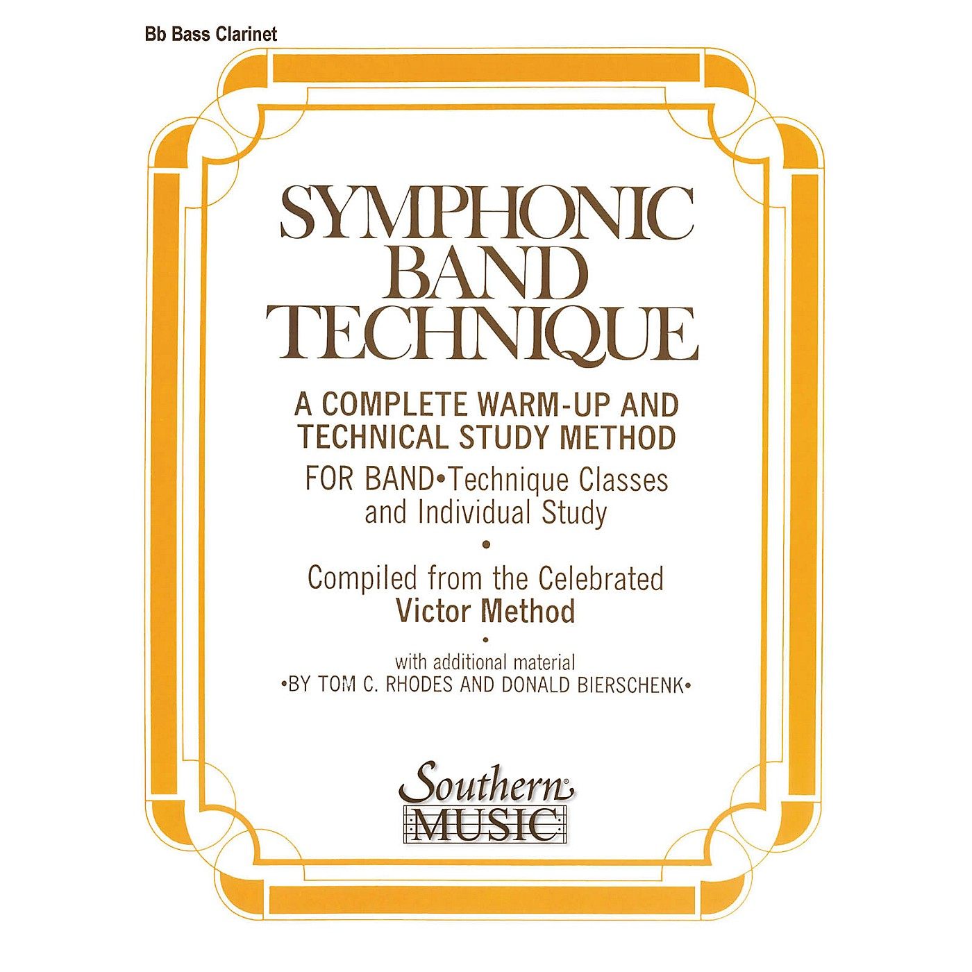 Southern Symphonic Band Technique (S.B.T.) (Bass Clarinet) Southern Music Series Arranged by John Victor thumbnail