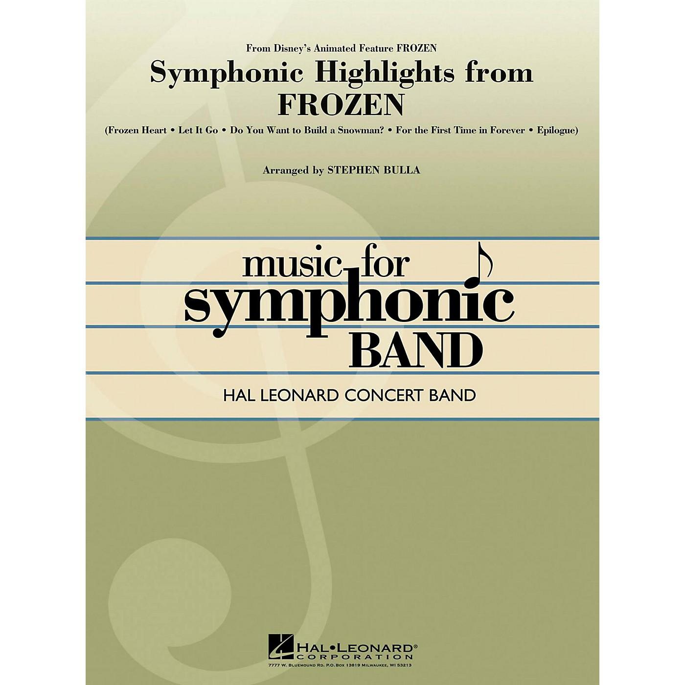 Hal Leonard Symphonic Highlights From Frozen Hal Leonard Concert Band Series Level 4 thumbnail