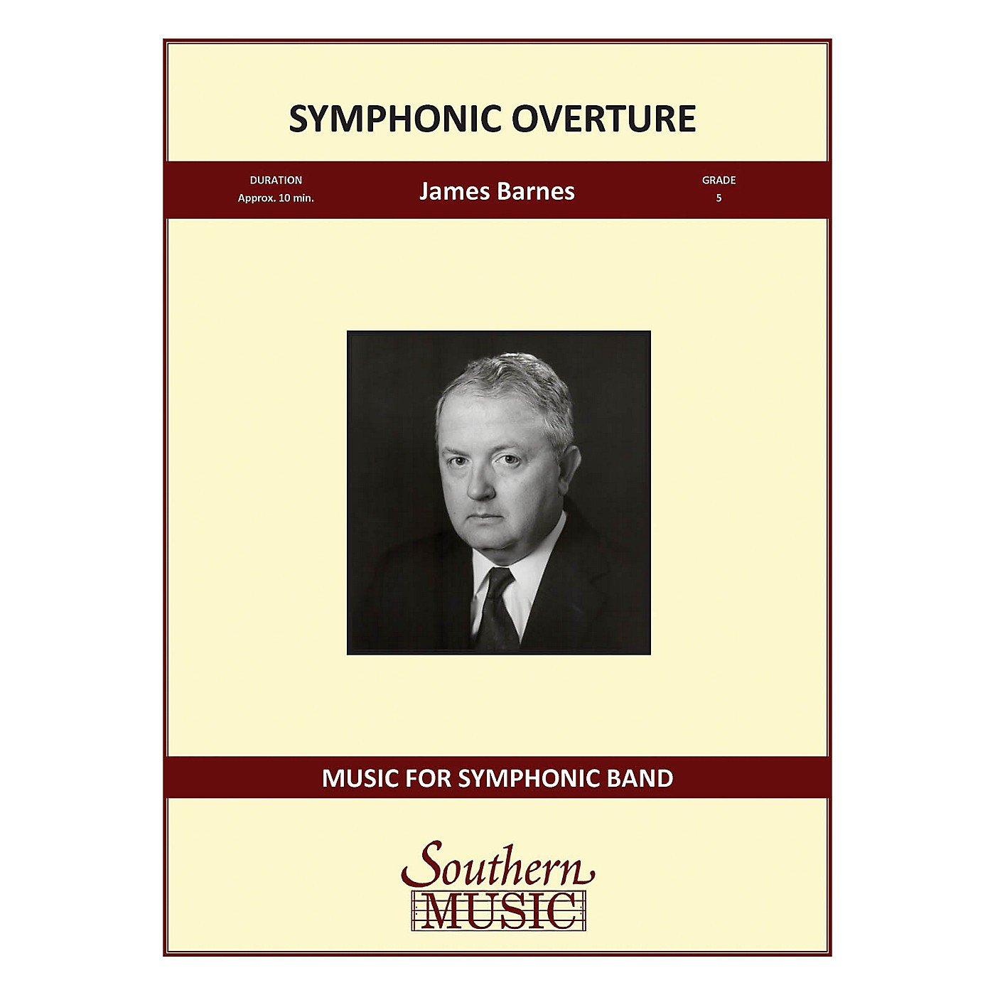 Southern Symphonic Overture (with Full Score) Concert Band Level 5 Composed by James Barnes thumbnail