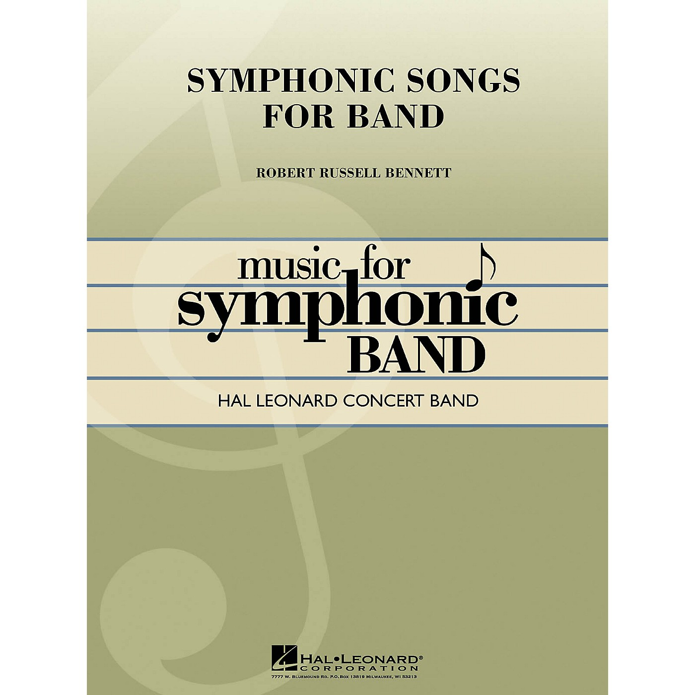 Hal Leonard Symphonic Songs for Band (Deluxe Edition) Concert Band Level 4 Composed by Robert Russell Bennett thumbnail
