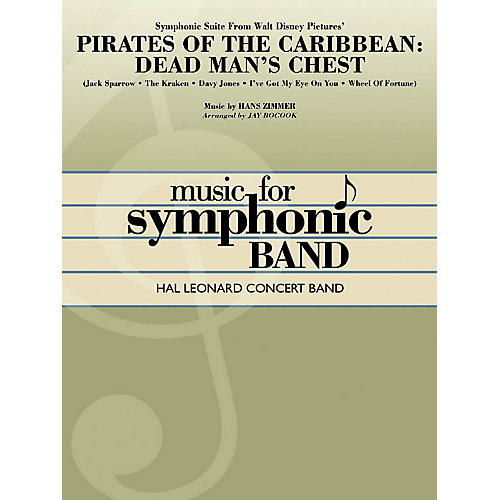 Hal Leonard Symphonic Suite from Pirates of the Caribbean: Dead Man's Chest Concert Band Level 4 by Jay Bocook thumbnail