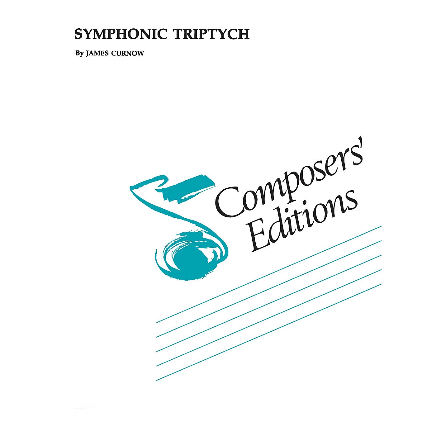 Hal Leonard Symphonic Triptych Concert Band Level 5 Composed by James Curnow thumbnail