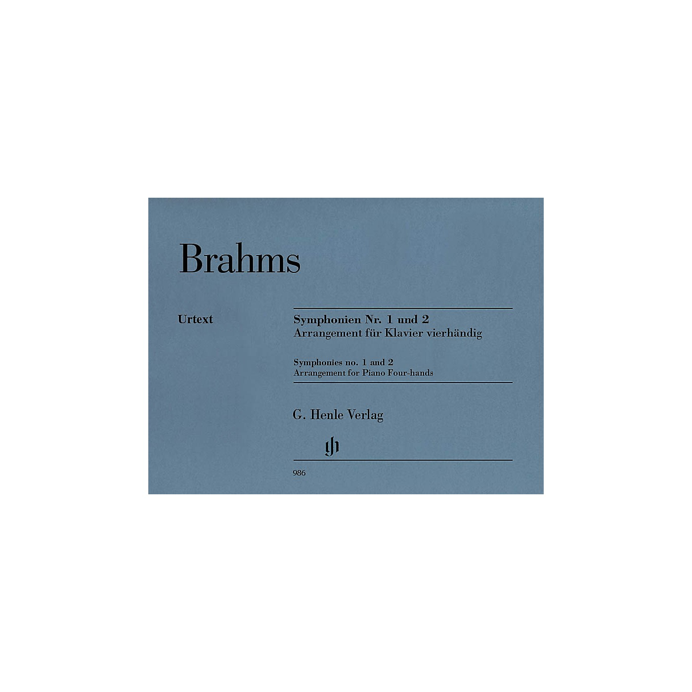 G. Henle Verlag Symphonies Nos. 1 and 2 Henle Music Folios Softcover Composed by Johannes Brahms Edited by Robert Pascall thumbnail