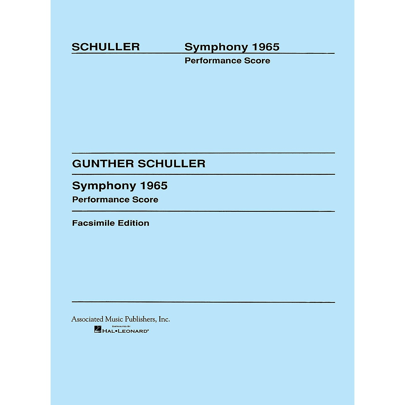 Associated Symphony (1965) (Full Score) Study Score Series Composed by Gunther Schuller thumbnail