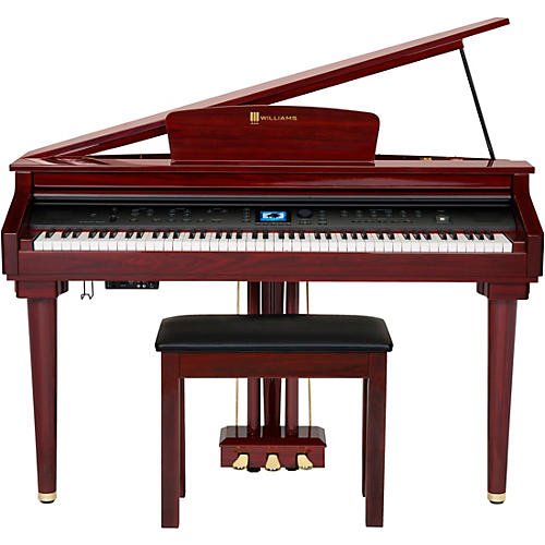 williams symphony grand digital piano with bench mahogany woodwind brasswind. Black Bedroom Furniture Sets. Home Design Ideas