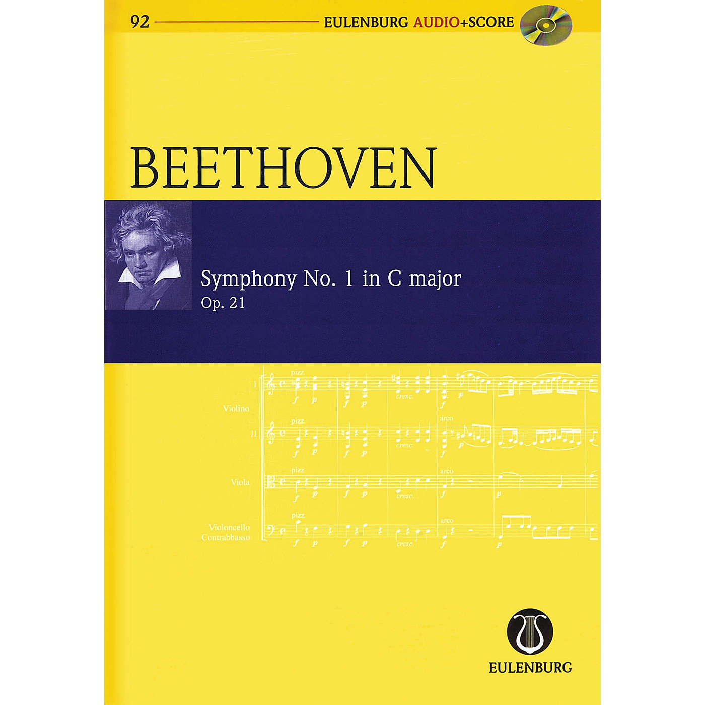 Schott Symphony No. 1 in C Major, Op. 21 Study Score Series Softcover with CD Composed by Ludwig van Beethoven thumbnail