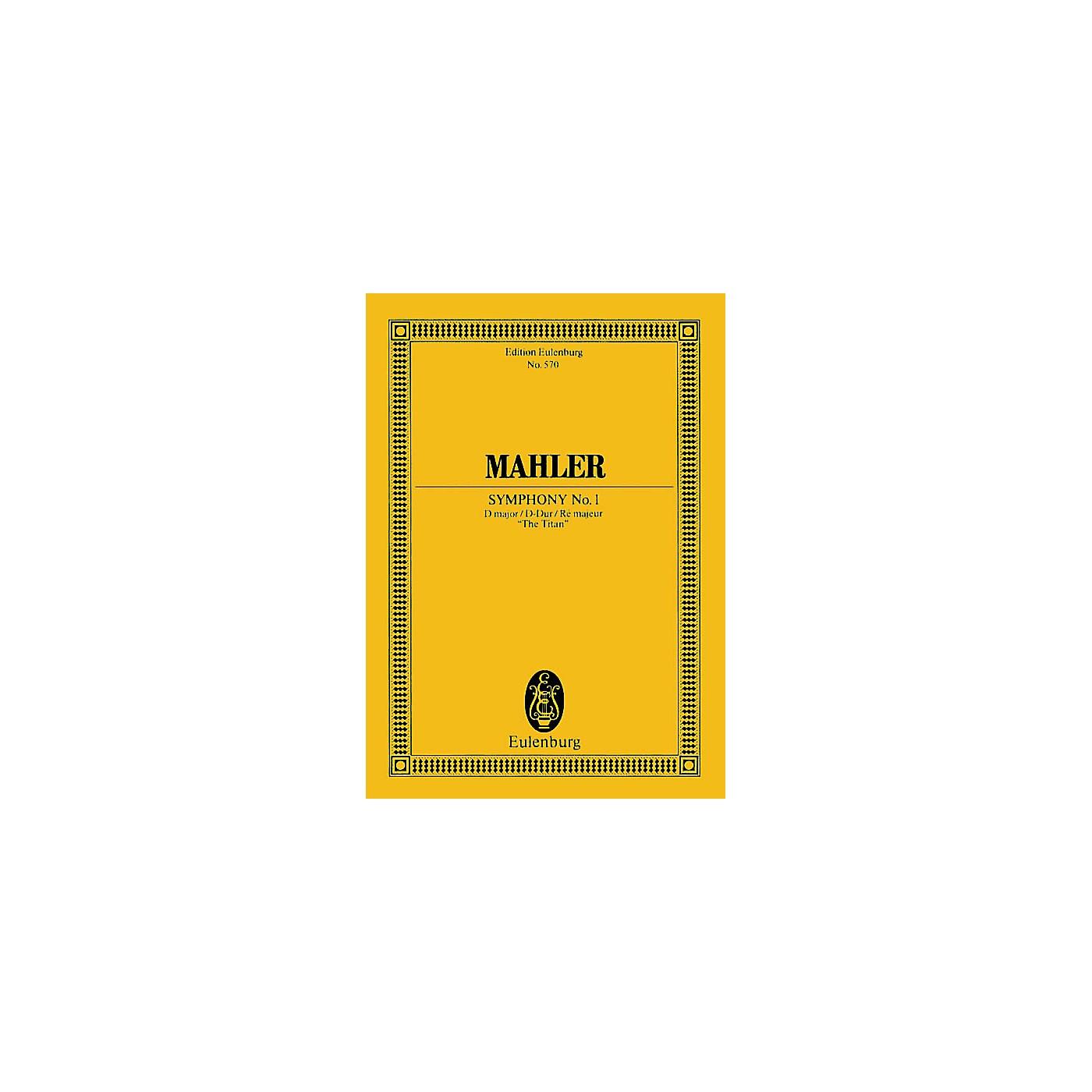 Eulenburg Symphony No. 1 in D Major The Titan (Study Score) Schott Series Composed by Gustav Mahler thumbnail