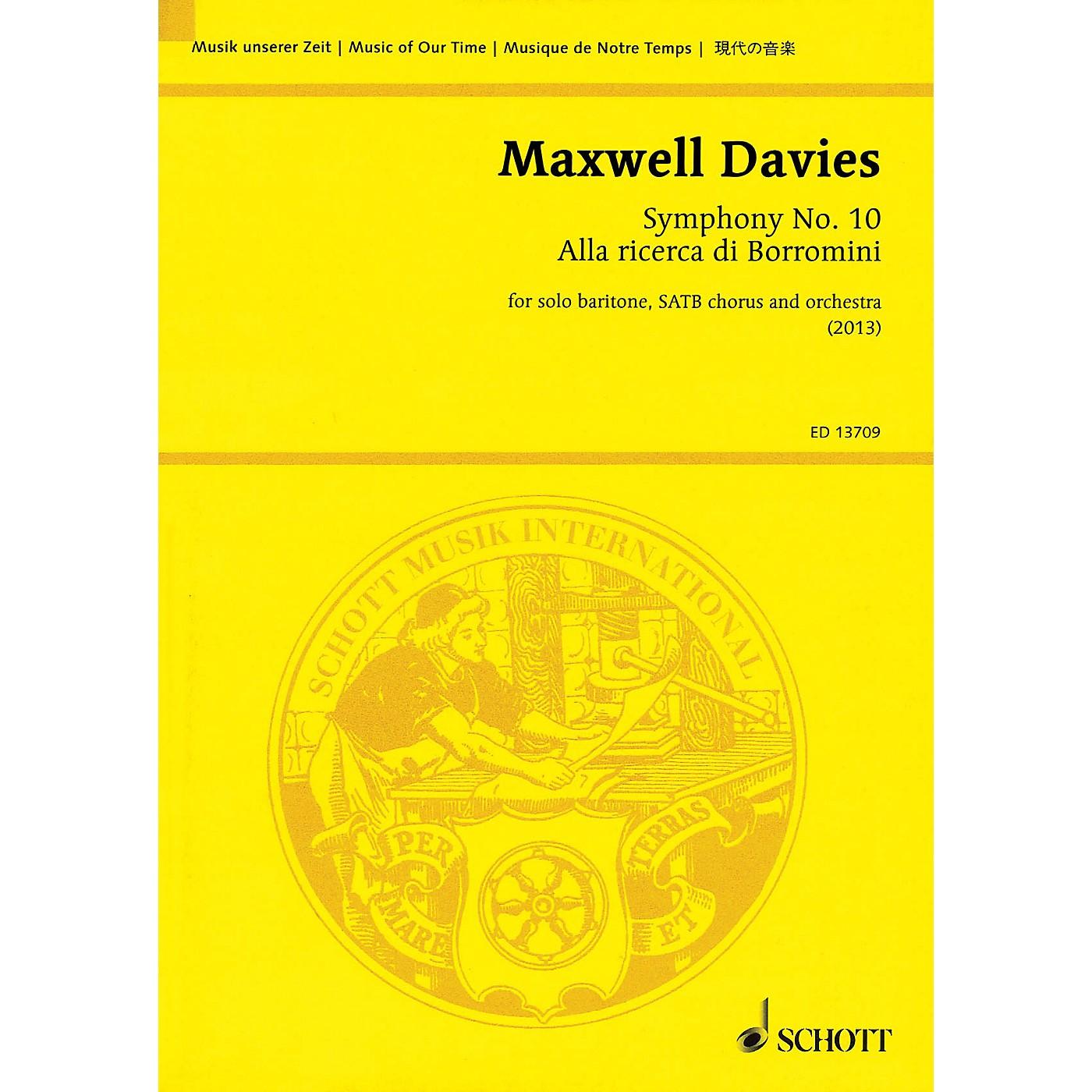 Schott Symphony No. 10 'Alla ricerca di Borromini' Study Score Series Softcover Composed by Peter Maxwell Davies thumbnail
