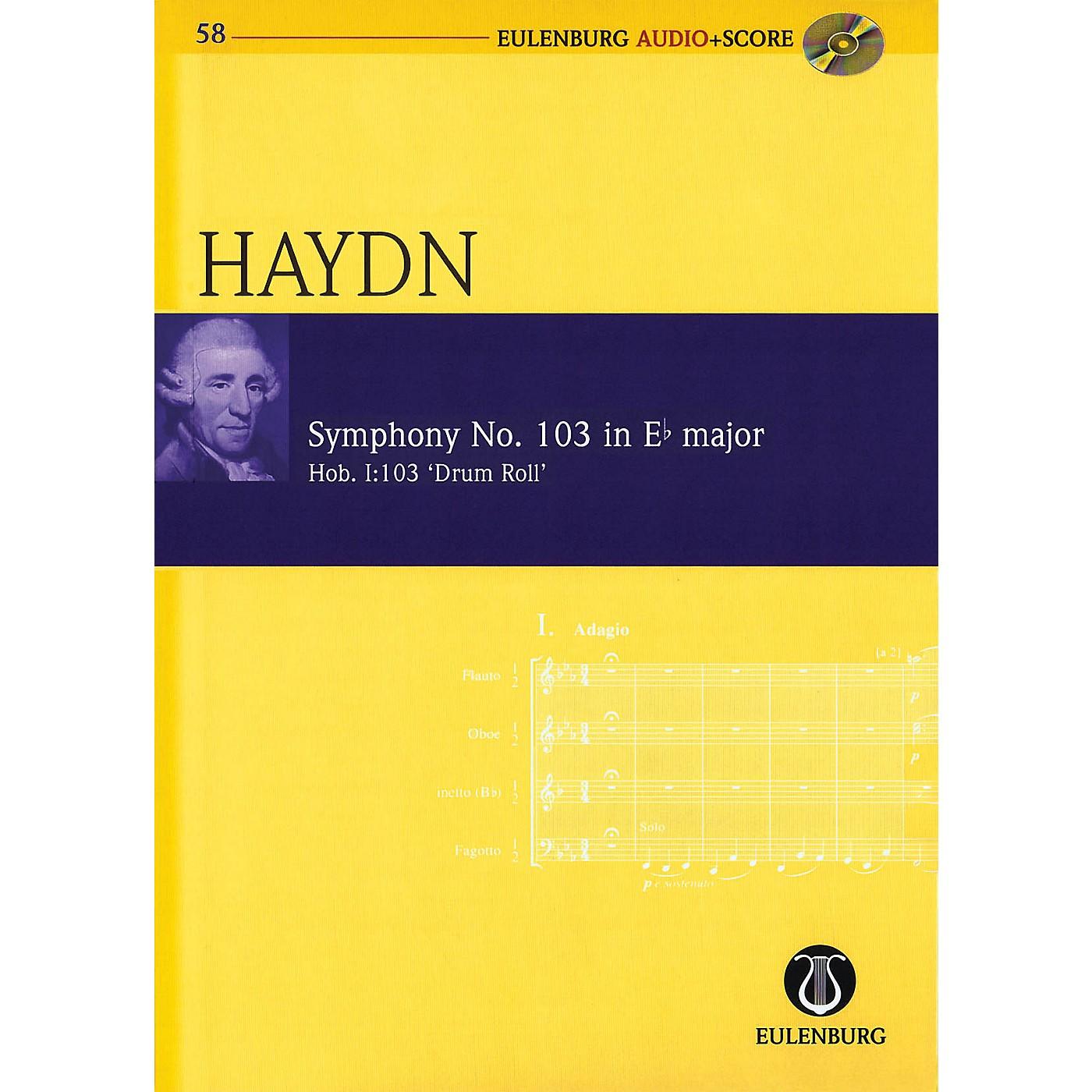 Eulenburg Symphony No. 103 in E-flat Maj Hob I:103 Drum Roll Eulenberg Audio plus Score W/ CD by Haydn thumbnail