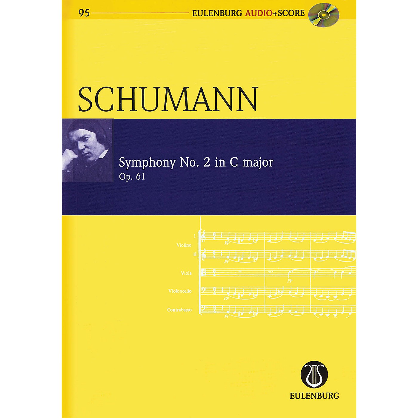 Schott Symphony No. 2 in C Major, Op. 61 Study Score Series Softcover with CD Composed by Robert Schumann thumbnail