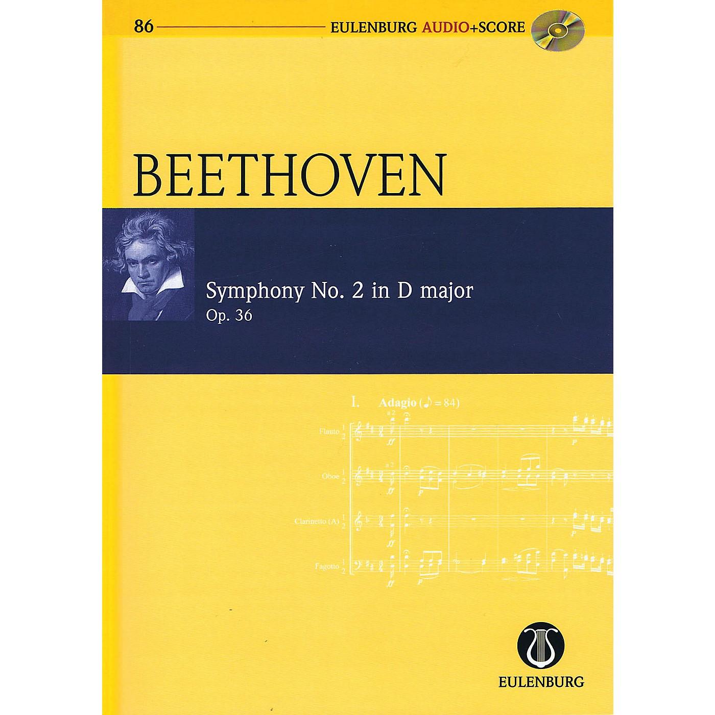 Eulenburg Symphony No. 2 in D Major, Op. 36 Eulenberg Audio plus Score w/ CD by Beethoven Edited by Richard Clarke thumbnail