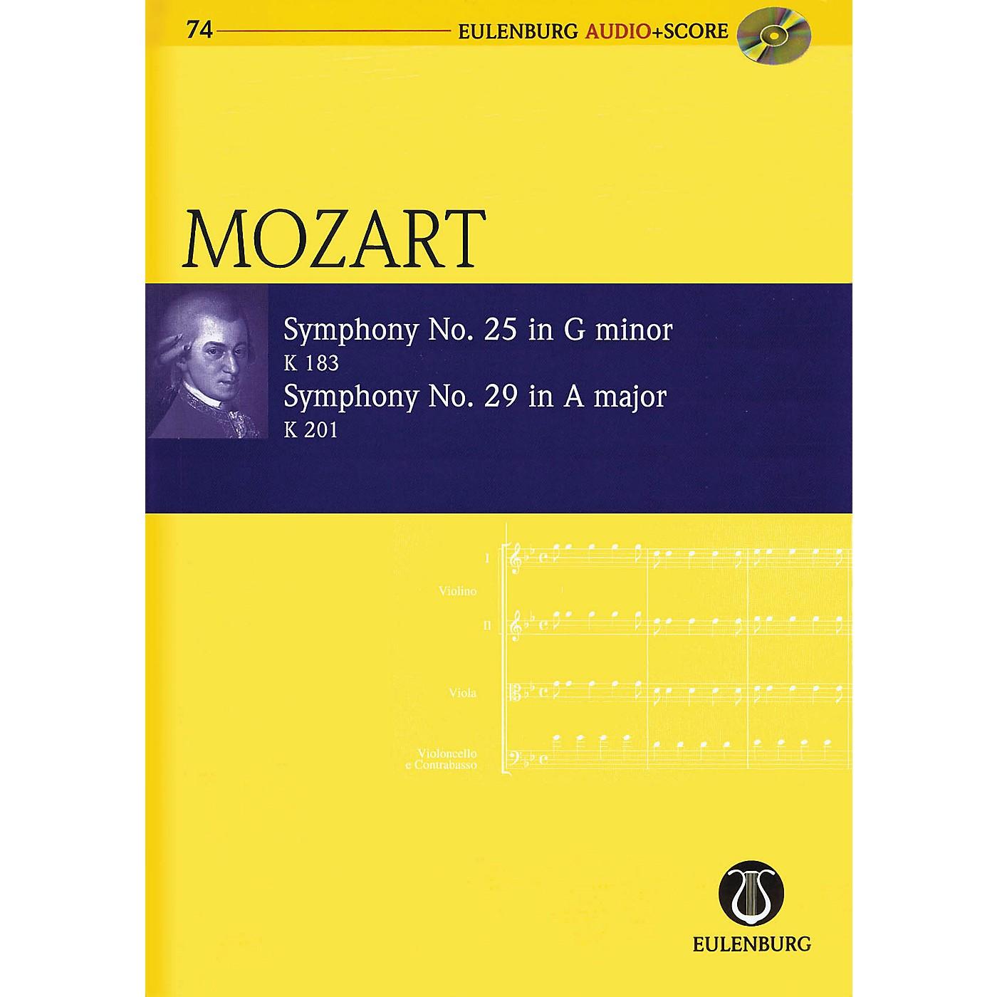 Eulenburg Symphony No. 25 G Minor K183 and Symphony No. 29 A Major K201 Eulenberg Audio plus Score by Mozart thumbnail