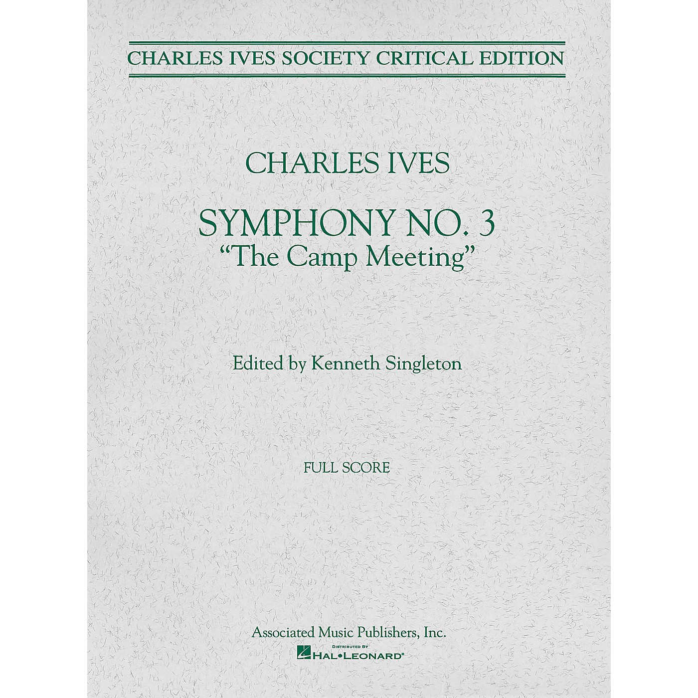 Associated Symphony No. 3 (Full Score) Study Score Series Composed by Charles Ives Edited by Kenneth Singleton thumbnail