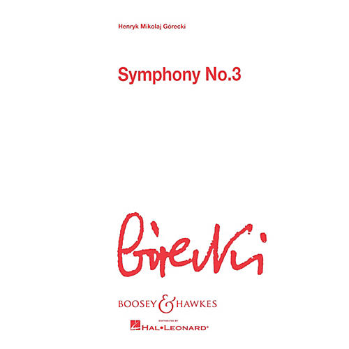 Boosey and Hawkes Symphony No. 3, Op. 36 (Score) Boosey & Hawkes Scores/Books Series Softcover by Henryk Mikolaj Górecki thumbnail