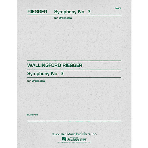Associated Symphony No. 3, Op. 42 (Study Score) Study Score Series Composed by Wallingford Riegger thumbnail