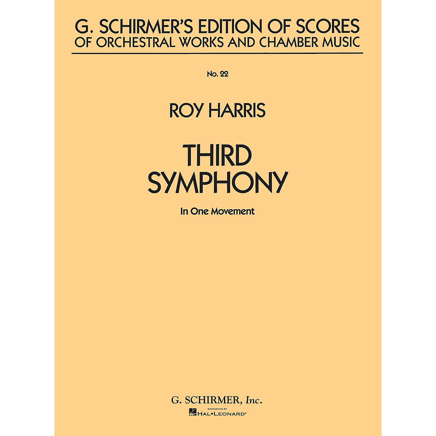 G. Schirmer Symphony No. 3 (in 1 movement) (Study Score No. 22) Study Score Series Composed by Roy Harris thumbnail