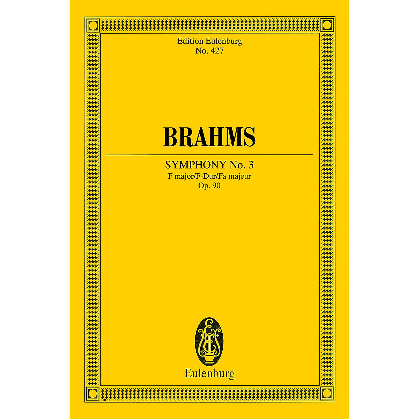Eulenburg Symphony No. 3 in F Major, Op. 90 (Study Score) Schott Series Softcover Composed by Johannes Brahms thumbnail