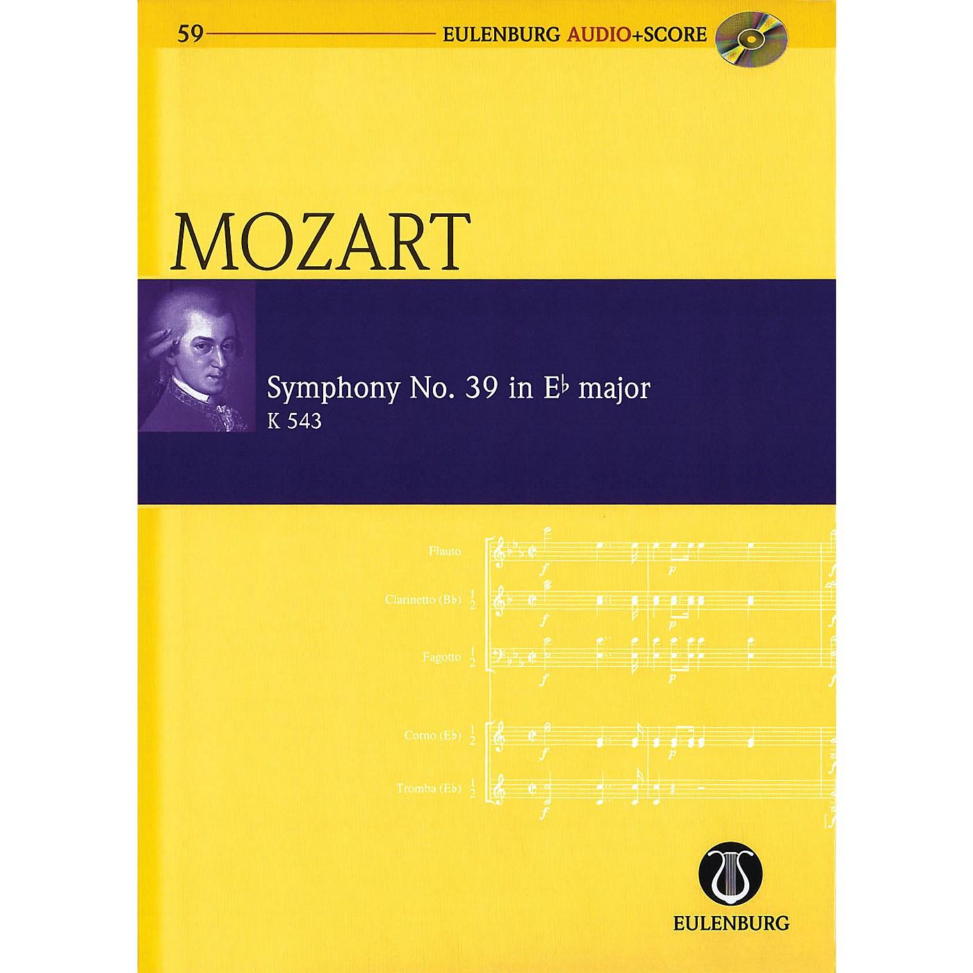 Eulenburg Symphony No. 39 in E-flat Major K543 Eulenberg Audio plus Score w/ CD by Mozart Edited by Richard Clarke thumbnail
