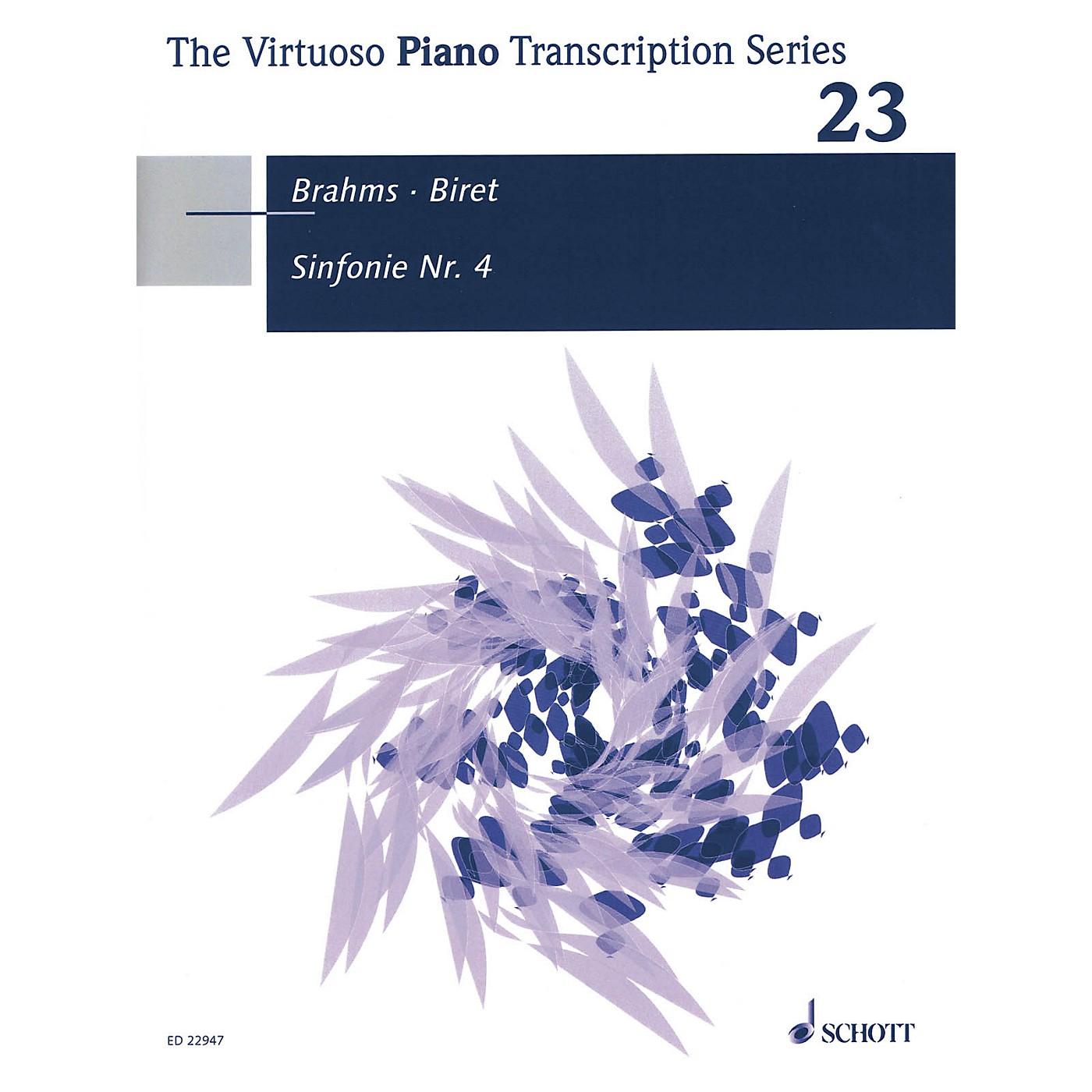 Schott Symphony No. 4 Op. 98 (Piano Transcription by Idil Biret (2017)) Piano Series Softcover thumbnail