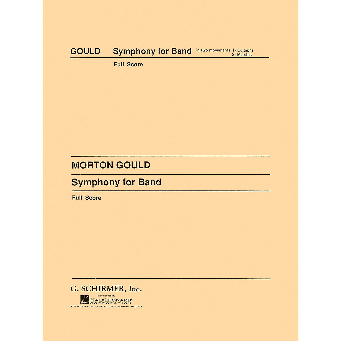 G. Schirmer Symphony No. 4 (West Point Symphony) - Symphony for Band (Full Score) Concert Band by Morton Gould thumbnail