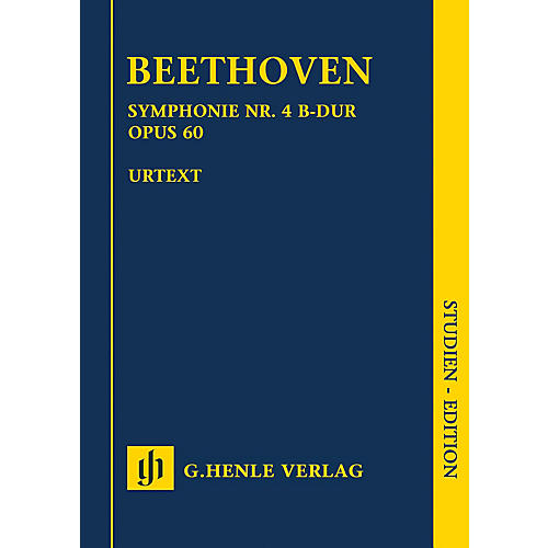 G. Henle Verlag Symphony No. 4 in B-flat Major, Op. 60 Henle Study Scores Composed by Beethoven Edited by Bathia Churgin thumbnail