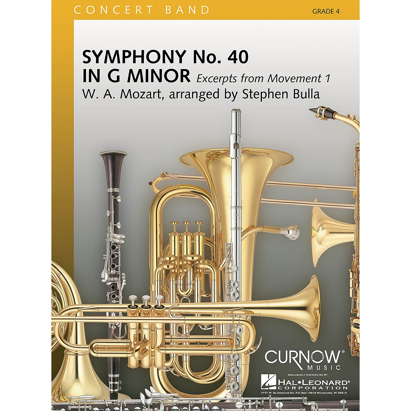 Curnow Music Symphony No. 40 - Mmt. I Excerpts (Grade 4 - Score Only) Concert Band Level 4 Arranged by Stephen Bulla thumbnail