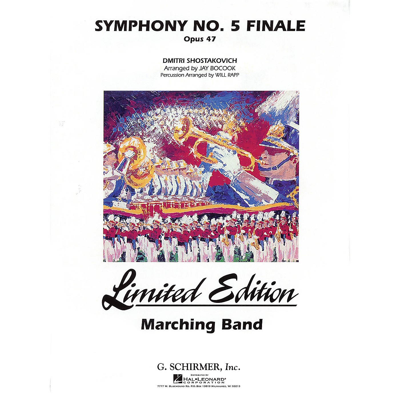 G. Schirmer Symphony No. 5 Marching Band Level 5 Composed by Dmitri Shostakovich Arranged by Jay Bocook thumbnail