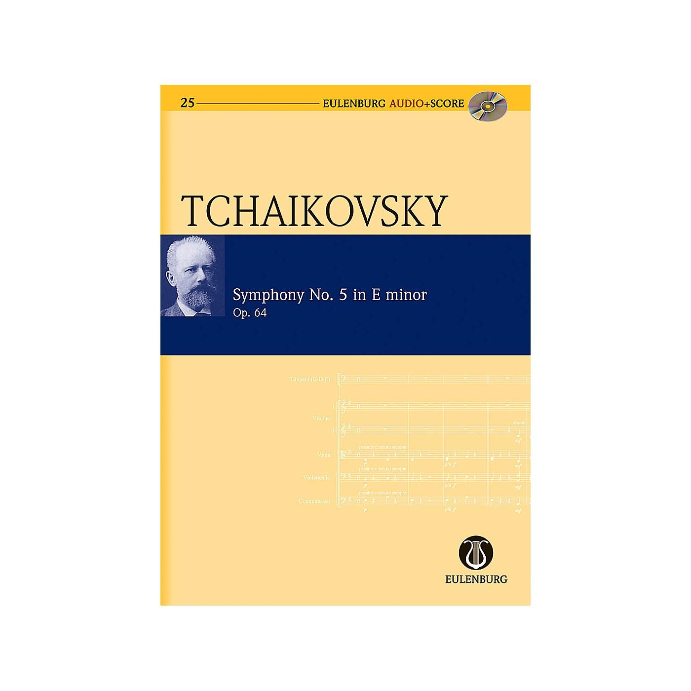 Eulenburg Symphony No. 5 in E Minor Op. 64 CW 26 Eulenberg Audio plus Score Series by Pyotr Il'yich Tchaikovsky thumbnail
