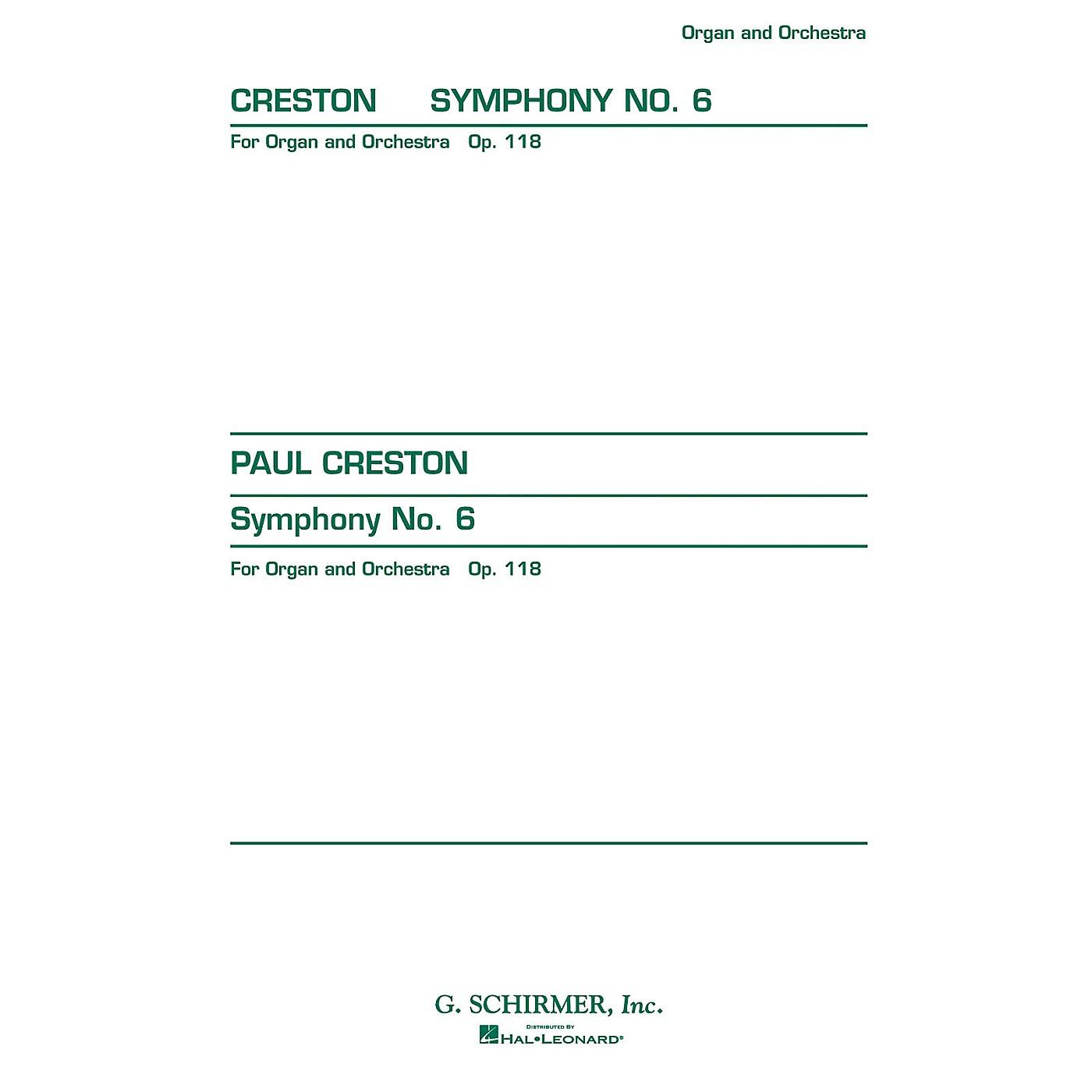 G. Schirmer Symphony No. 6, Op. 118 (Study Score No. 151) Study Score Series Composed by Paul Creston thumbnail