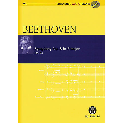 Schott Symphony No. 8 in F Major, Op. 93 Study Score Series Softcover with CD Composed by Ludwig van Beethoven thumbnail